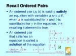 recall ordered pairs