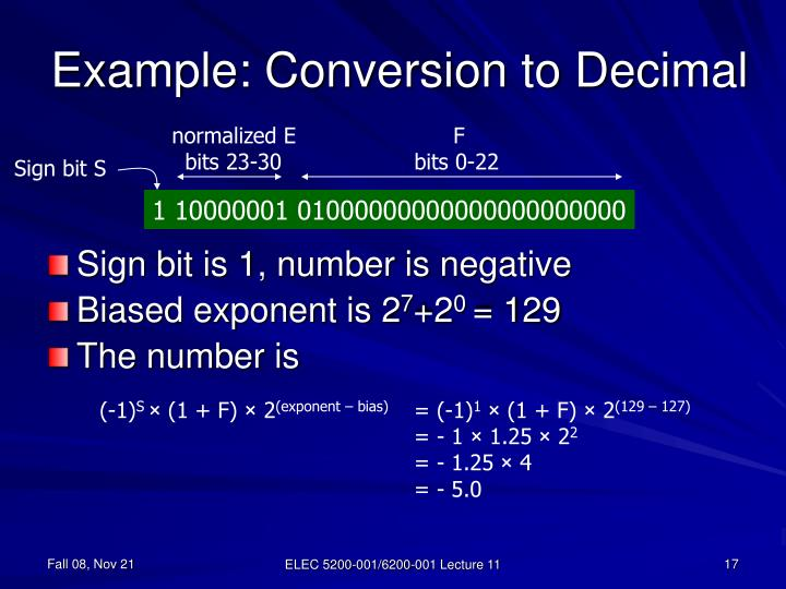 Example: Conversion to Decimal