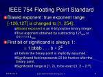 ieee 754 floating point standard
