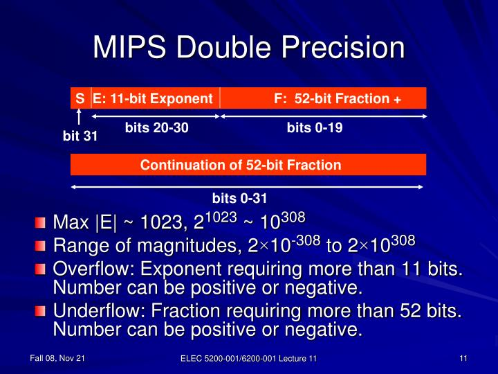 MIPS Double Precision