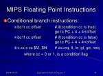 mips floating point instructions1