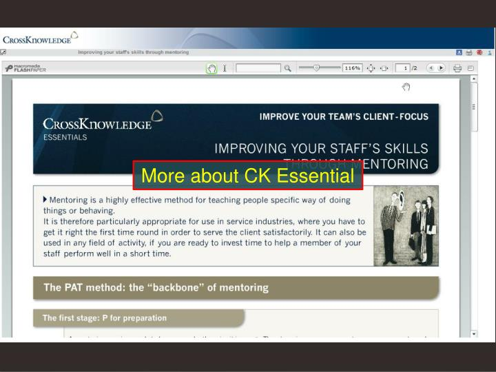 More about CK Essential