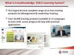 what is crossknowledge ck e learning system