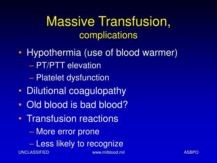 Massive Transfusion,