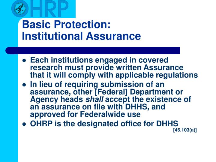 Basic Protection: