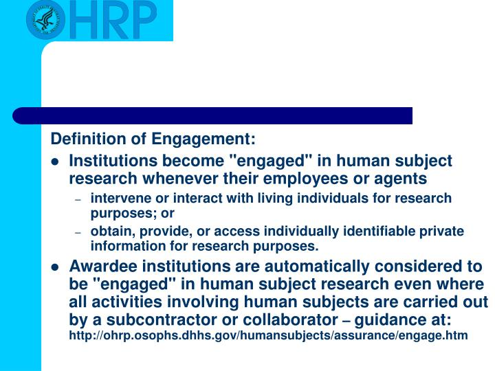 Definition of Engagement: