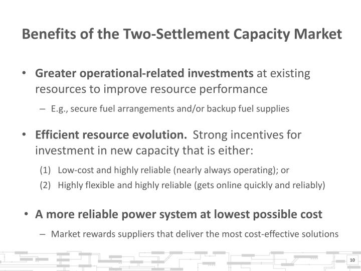Benefits of the Two-Settlement Capacity Market