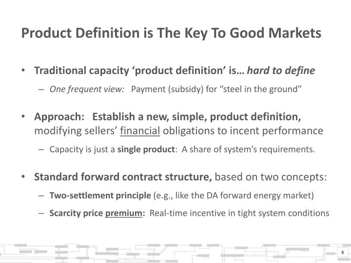 Product Definition is The Key To Good Markets