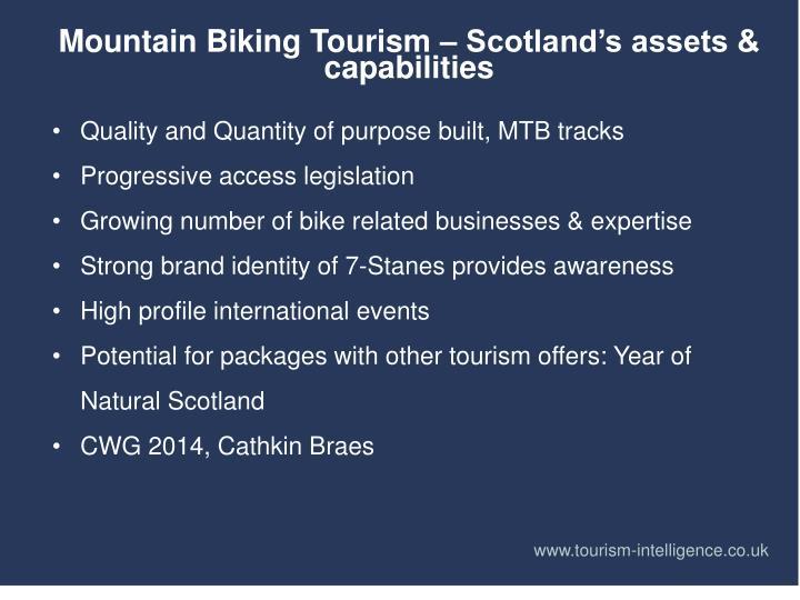 Mountain Biking Tourism – Scotland's assets & capabilities