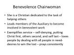 benevolence chairwoman