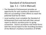 standard of achievement pp 5 1 5 8 in manual
