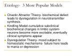 etiology 3 more popular models