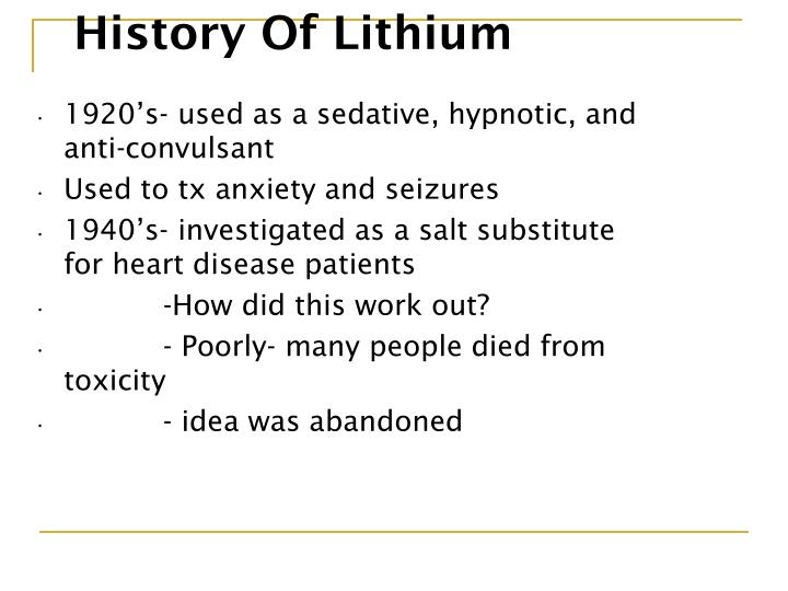 History Of Lithium
