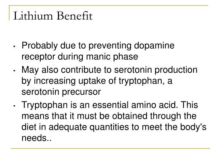 Lithium Benefit