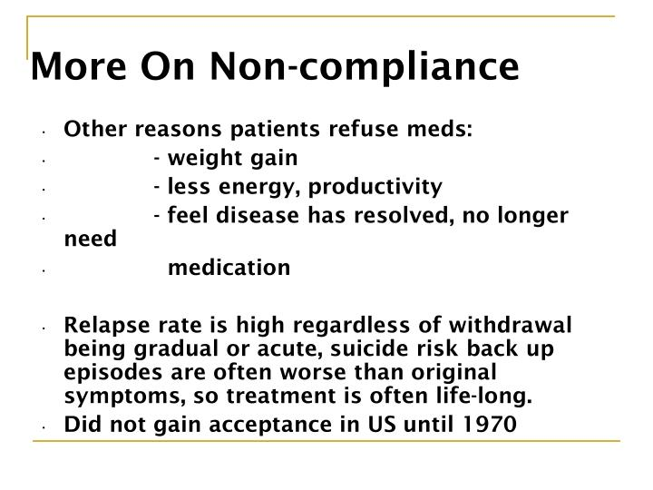 More On Non-compliance