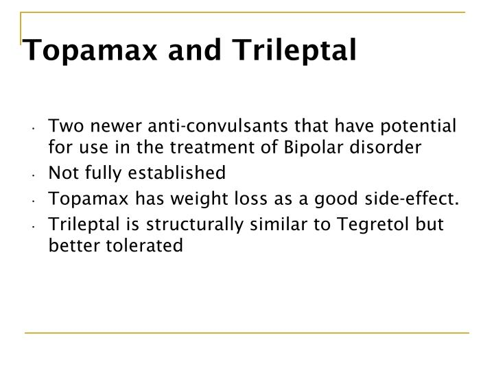 Topamax and Trileptal