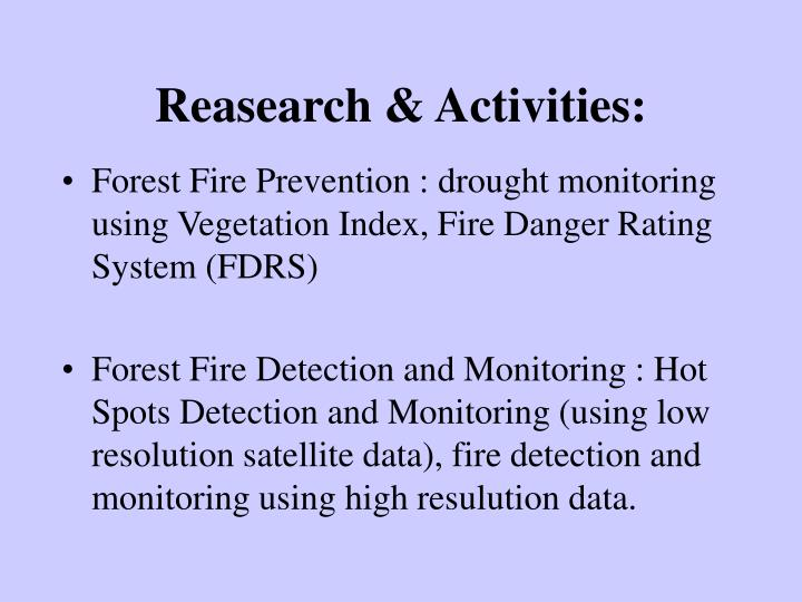 Reasearch & Activities:
