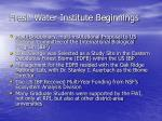 fresh water institute beginnings1