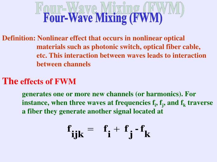 Four-Wave Mixing (FWM)