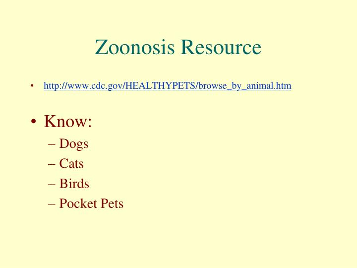 Zoonosis Resource