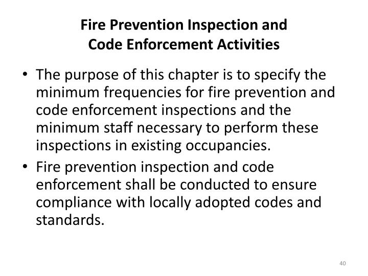 Fire Prevention Inspection and