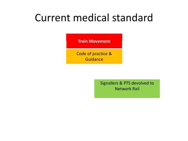 Current medical standard