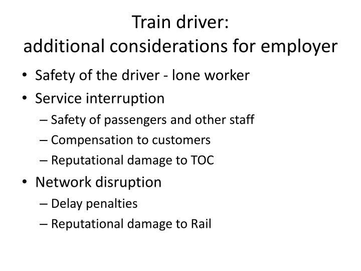 Train driver: