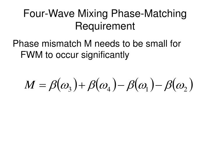 Four-Wave Mixing Phase-Matching Requirement