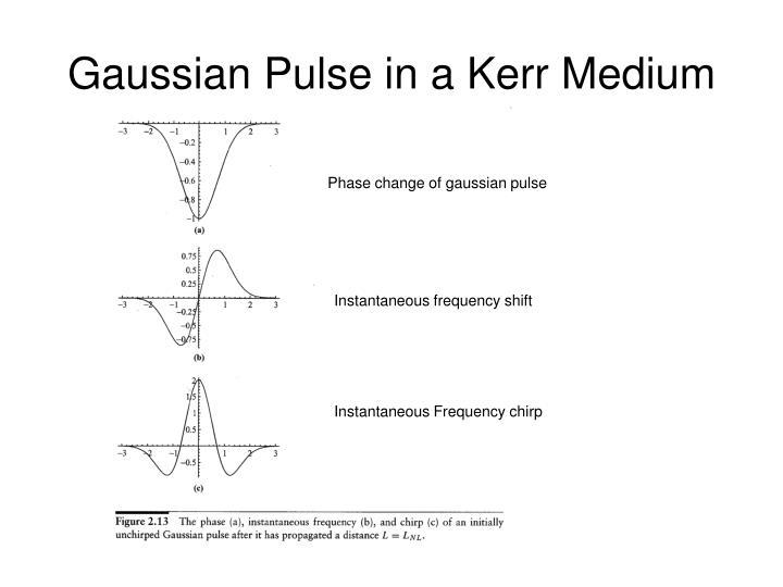 Gaussian Pulse in a Kerr Medium