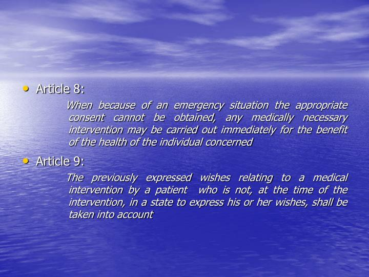 Article 8: