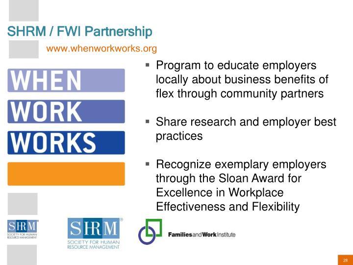 SHRM / FWI Partnership