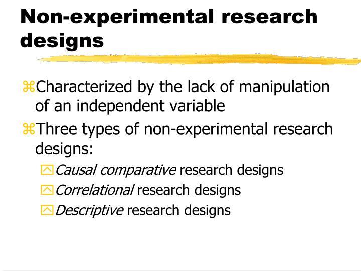 Non-experimental research designs