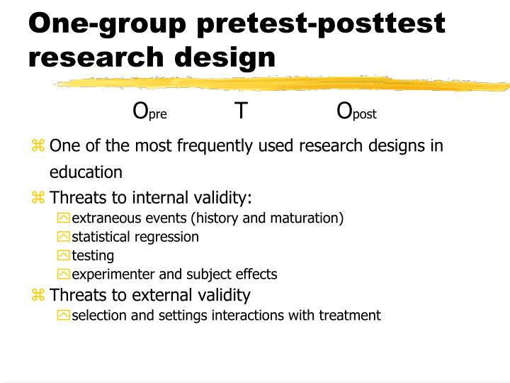 One-group pretest-posttest research design