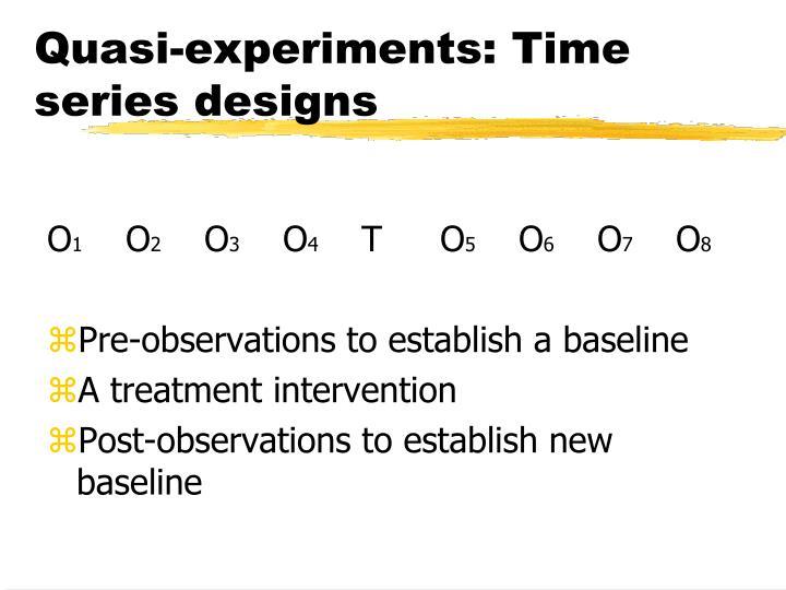Quasi-experiments: Time series designs