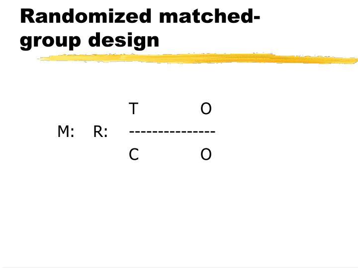Randomized matched-group design