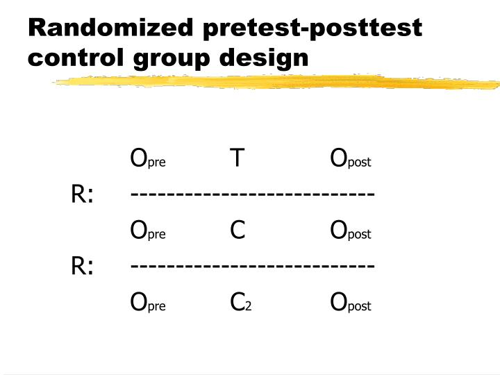 Randomized pretest-posttest control group design