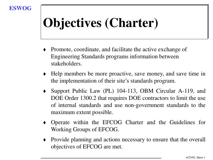 Objectives (Charter)