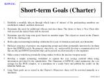 short term goals charter