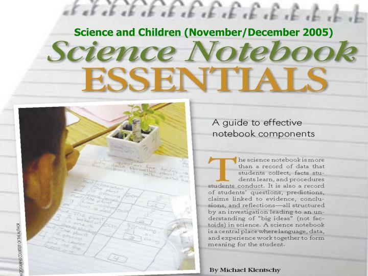 Science and Children (November/December 2005)