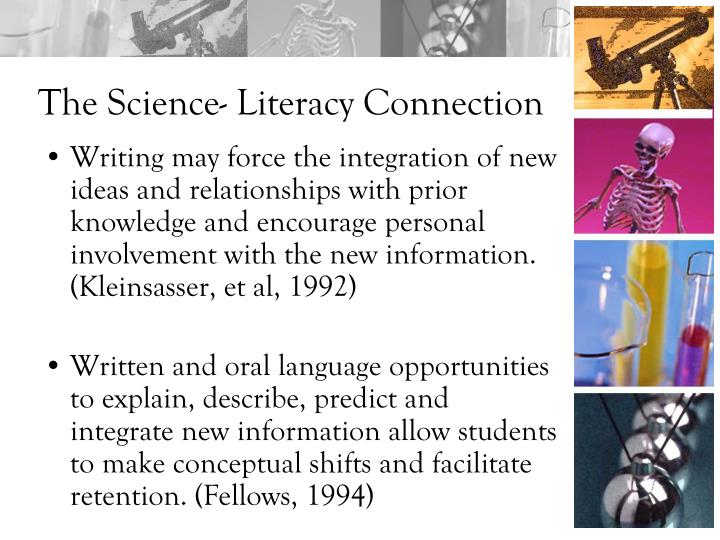 The Science- Literacy Connection
