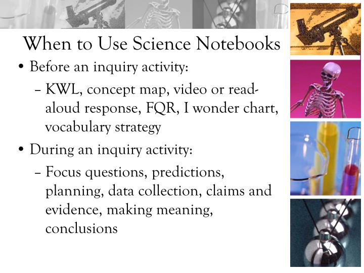 When to Use Science Notebooks