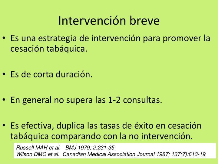Intervención breve
