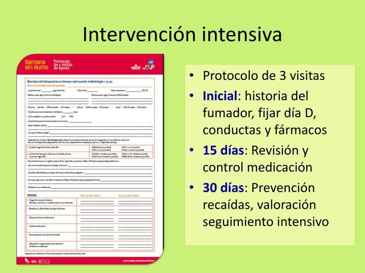Intervención intensiva