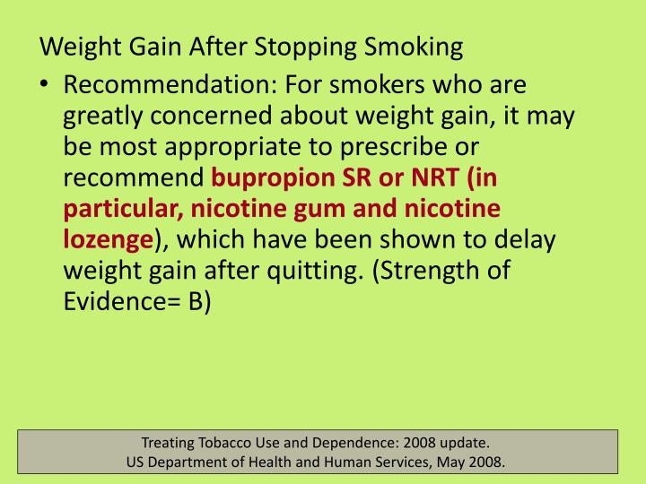 Weight Gain After Stopping Smoking