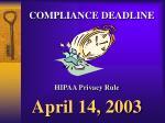 compliance deadline