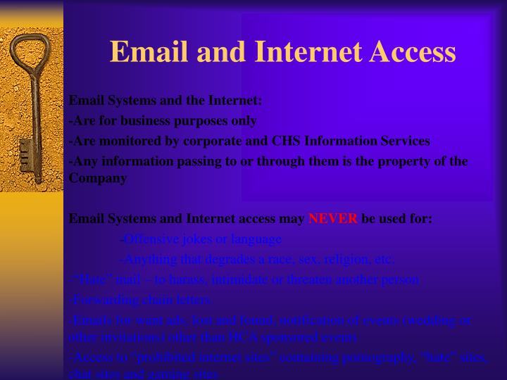 Email and Internet Access
