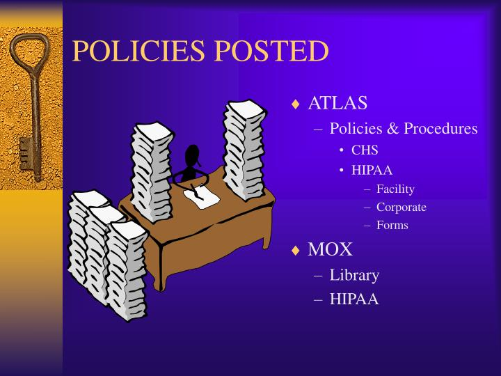 POLICIES POSTED