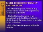 right to request privacy restrictions1