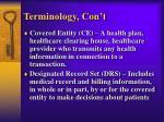terminology con t
