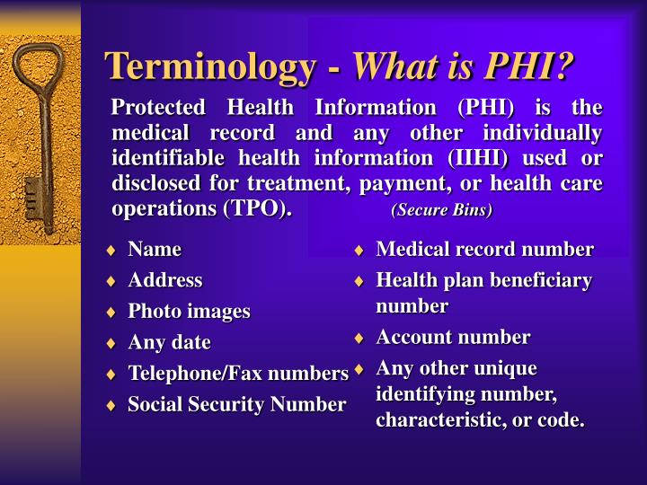 Terminology -